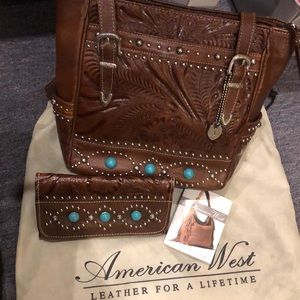 American West Purse and Wallet-turquoise beads